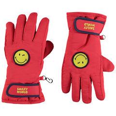 Γάντια του σκι με φλις επένδυση και σήμα Smiley
