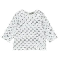 Μακρυμάνικη μπλούζα ζέρσεϊ με διάσπαρτο σχέδιο