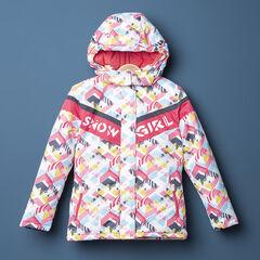 Παιδικά - Αδιάβροχο μπουφάν του σκι με γεωμετρικά μοτίβα σε όλη την επιφάνεια