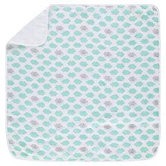 Κουβέρτα από tetra με συννεφάκια σε όλη την επιφάνεια ©Smiley Boy