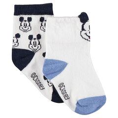 Σετ 2 ζευγάρια ασορτί κάλτσες με ζακάρ μοτίβο Μίκυ της ©Disney