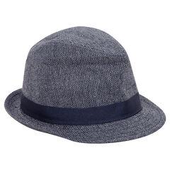 Καπέλο μπορσαλίνο με σχέδιο ψαροκόκκαλο