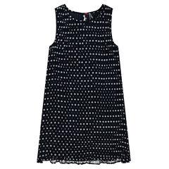Αμάνικο πλισέ φόρεμα με πουά
