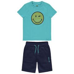 Σετ μπλουζάκι και σορτς Smiley απο οργανικό βαμβάκι.