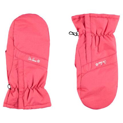 Αδιάβροχα γάντια του σκι με τυπωμένο λόγκο