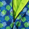Ολόσωμο εμπριμέ μπουφάν του σκι με γεωμετρικό μοτίβο και φλις επένδυση