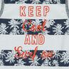 Αμάνικη μπλούζα με στάμπα λωρίδες από φοίνικες και τυπωμένο μήνυμα