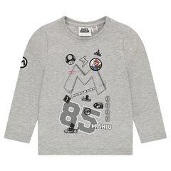 Μακρυμάνικη μπλούζα από ζέρσεϊ Super Mario™ με κεντημένα σήματα