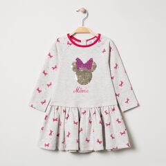Μακρυμάνικο φόρεμα με τυπωμένα φιογκάκια και μοτίβο Μίνι της Disney από πούλιες