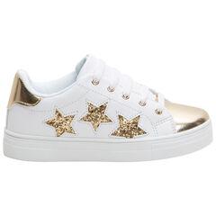 Χαμηλά αθλητικά παπούτσια με χρυσαφί φάσες και μεταλλιζέ αστέρια