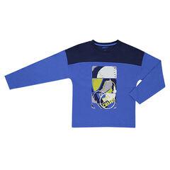 Παιδικά - Μακρυμάνικη μπλούζα με τυπωμένο κείμενο στην πλάτη