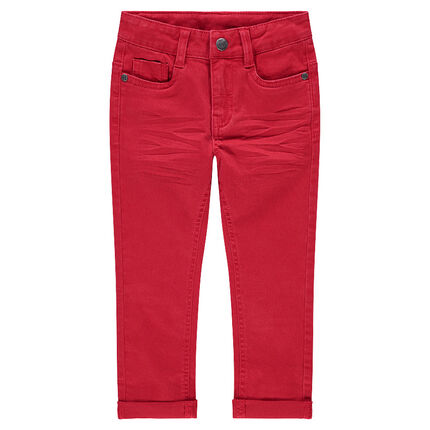 Παιδικά - Μονόχρωμο υφασμάτινο παντελόνι με τσαλακωμένη όψη