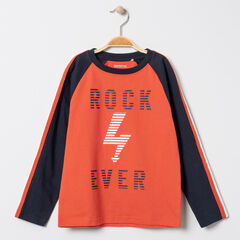T-shirt manches longues print rock