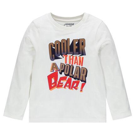 Μακρυμάνικη μπλούζα με φαντεζί τύπωμα