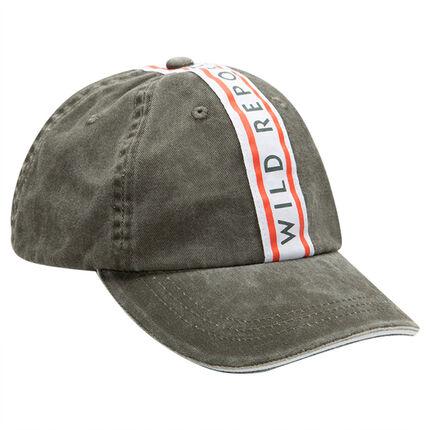 Παιδικά - Βαμβακερό καπέλο με εμπριμέ λωρίδα