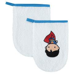 Σετ με 3 γάντια μπάνιου με κεντημένο Superman JUSTICE LEAGUE - CHIBI
