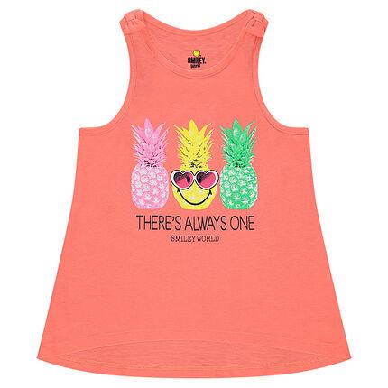 Αμάνικη μπλούζα από ζέρσεϊ με τύπωμα ανανάδες