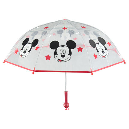 Διαφανής ομπρέλα με τύπωμα τον Μίκυ της ©Disney και αστέρια