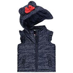 Αμάνικο μπουφάν με τη Minnie της Disney και επένδυση ζέρσεϊ