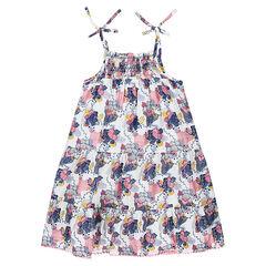 Φόρεμα με βολάν με λουλουδάκια σε όλη την επιφάνεια