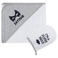 Σετ μπάνιου με κάπα-μπουρνούζι και γάντι μπάνιου BATMAN