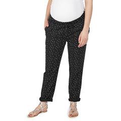 Παντελόνι εγκυμοσύνης με εμπριμέ μοτίβο και τσέπες με φερμουάρ