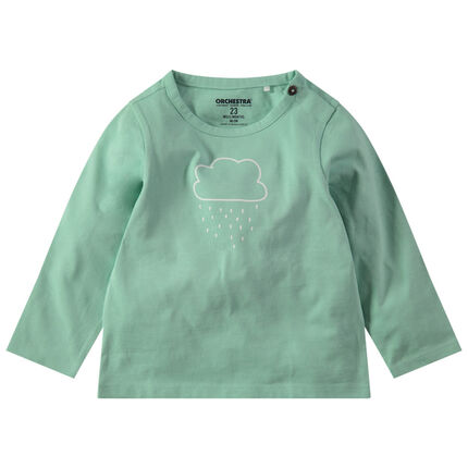 Μακρυμάνικη ζέρσεϊ μπλούζα με τυπωμένο μοτίβο