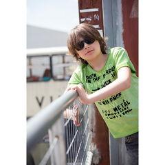 Παιδικά - Κοντομάνικη μπλούζα από ζέρσεϊ νηματοβαφή με τυπωμένα γράμματα