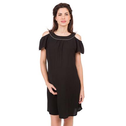Έξωμο φόρεμα εγκυμοσύνης από κρεπ
