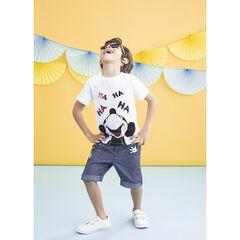 Μπλουζάκι  με τύπωμα Mickey Disney με μαγικές παγιέτες