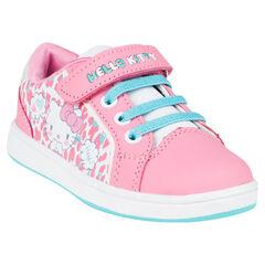 Baskets basses à scratch et lacets élastiques Hello Kitty
