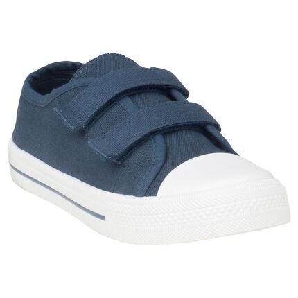 Χαμηλά υφασμάτινα αθλητικά παπουτσάκια με velcro σε νούμερο 29 έως 35