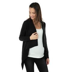 Πλεκτή ζακέτα εγκυμοσύνης με φαντεζί φύλλα