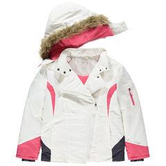 Παιδικά - Μπουφάν του σκι με φλις επένδυση, ροζ λεπτομέρειες και συνθετική γούνα , Orchestra