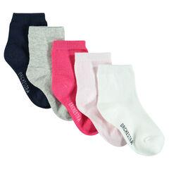 Σετ με 5 ζευγάρια μονόχρωμες κάλτσες