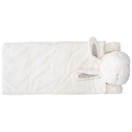 Κουβέρτα με διακοσμητικό σχέδιο και προσωπάκι κουνελιού από sherpa