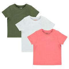Σετ 3 κοντομάνικες μονόχρωμες μπλούζες 8cd2b88dce6