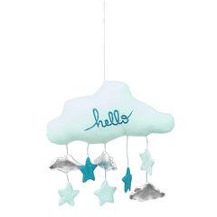Μόμπιλε σε σχήμα σύννεφου με γέμισμα και μικρά κρεμαστά παιχνιδάκια