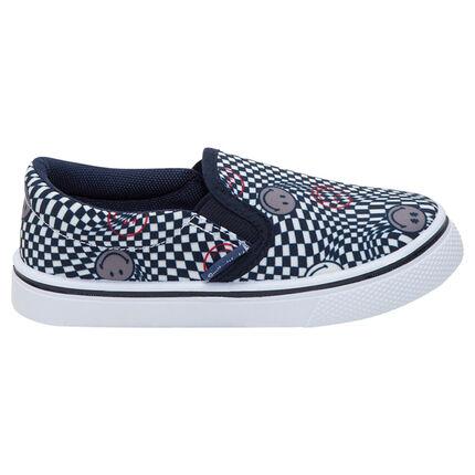 Πάνινα χαμηλά αθλητικά παπούτσια με μοτίβο ©Smiley