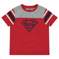 Κοντομάνικη ζέρσεϊ μπλούζα με στάμπα Superman της ©Warner
