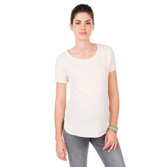 Tee-shirt manches courtes de grossesse en maille fantaisie