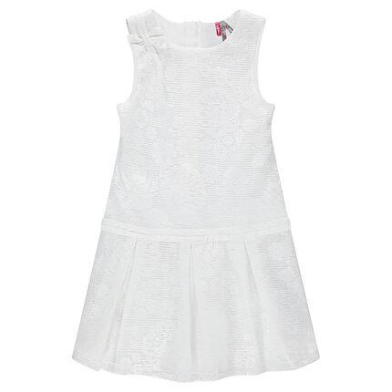 Αμάνικο φόρεμα από δαντέλα με φερμουάρ στην πλάτη