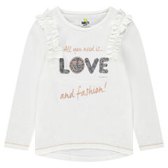 Μακρυμάνικη ζέρσεϊ μπλούζα με μοτίβο ©Smiley από πούλιες