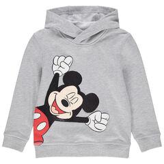Φούτερ από φανέλα με κουκούλα και στάμπα Μίκυ της Disney με πούλιες , Orchestra
