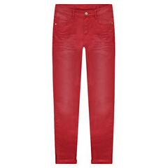 Παιδικά - Παντελόνι τουίλ με φθαρμένη και τσαλακωμένη όψη σε slim γραμμή