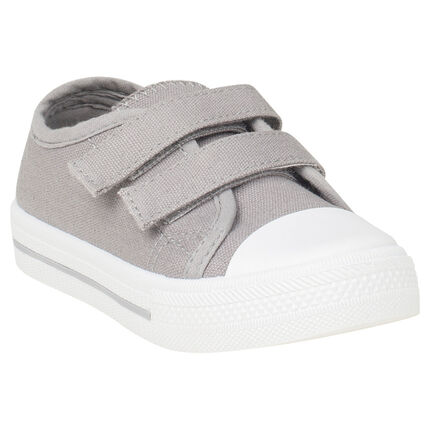 Χαμηλά υφασμάτινα αθλητικά παπουτσάκια με velcro σε νούμερο 24 έως 27