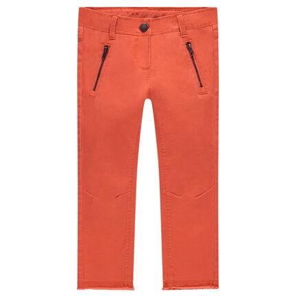 Παιδικά - Μονόχρωμο παντελόνι skinny από ύφασμα τουίλ