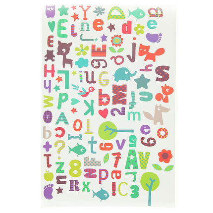 Sticker mural alphabet