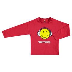 Μακρυμάνικη μπλούζα από ζέρσεϊ με στάμπα ©Smiley