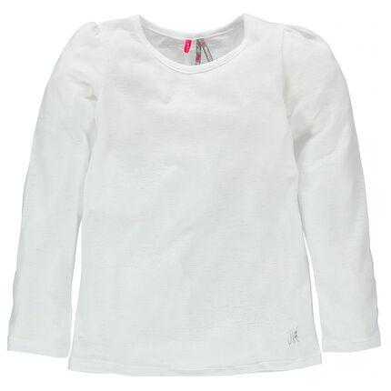Tee-shirt manches longues aspect dévoré